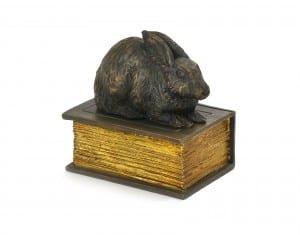 PETRIBUTES CAST Rabbit on Book