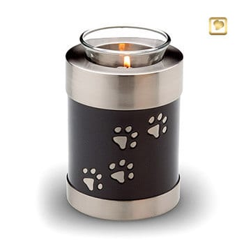 Paw Print Tea Light Urn - Slate