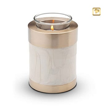 pet urns tea light pearl