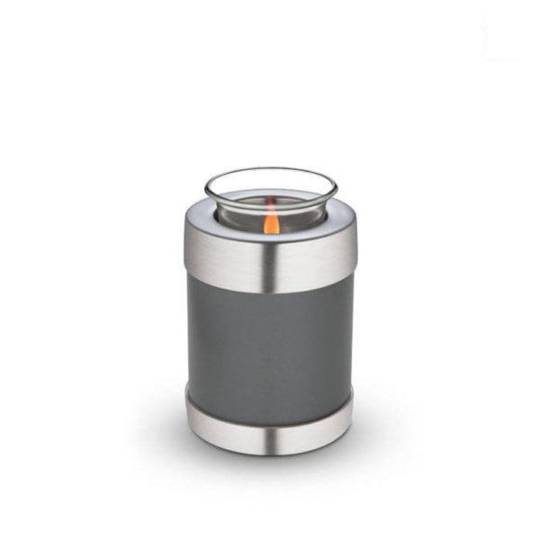 Grey Brass Candle Holder Pet Urn