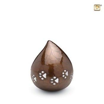 Bronze Love Drop Pet Urn