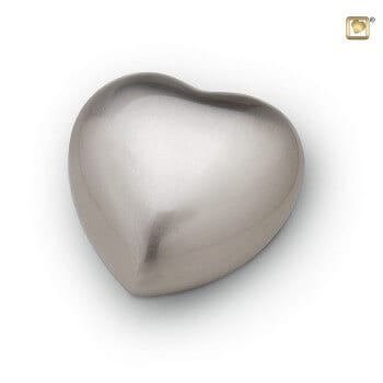 pet urns matt silver token heart