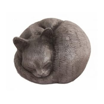 pet urns resin sleeping cats