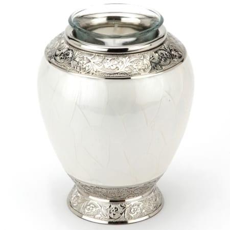 Tall Pearl Tealight Urn