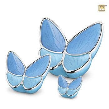 Butterfly Urn - Blue