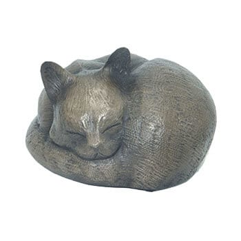 Sleeping cat bronze