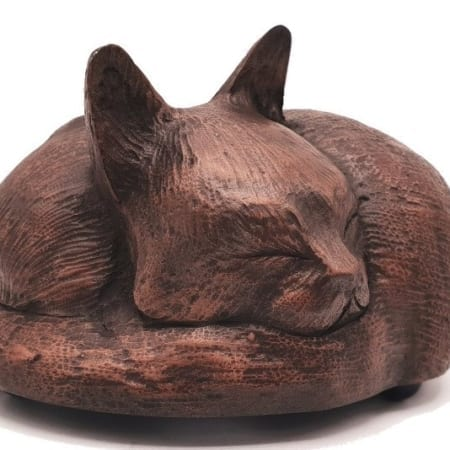 Copper Resin Sleeping Cat